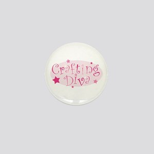 """Crafting Diva"" [pink] Mini Button"